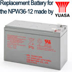This OEM Replacement Battery for the Yuasa NPW36-12 meets the exact standards set by the original manufacturer.